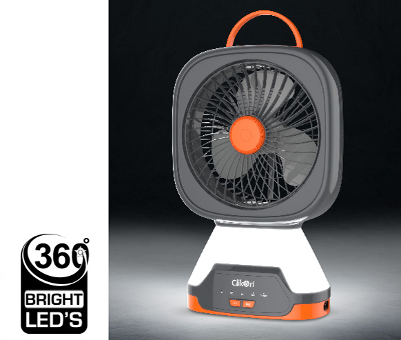 COMPACT RECHARGEABLE TABLE FAN - CK 2216 - Clikon World